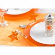 12 Marque-Places Etoile Orange
