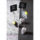 2 Marque-Places Tête de Mort Argent