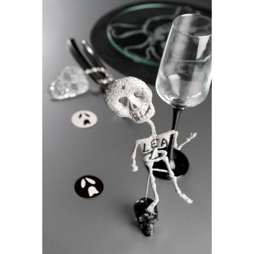 2 Squelettes Argent à Paillettes