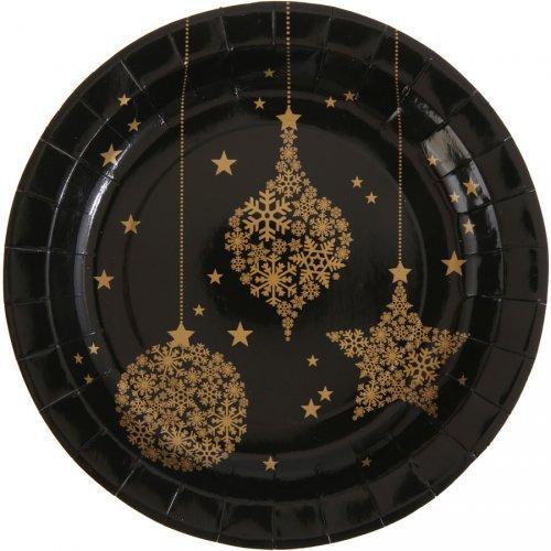10 Assiettes Noël Chic Noir