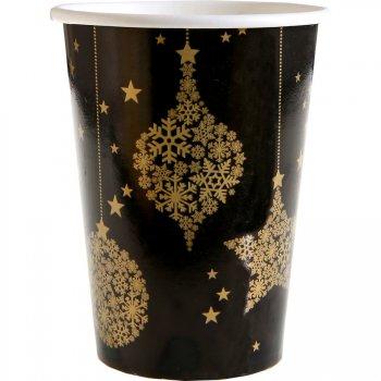10 Gobelets Noël Chic Noir