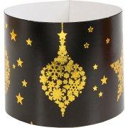 6 Ronds de Serviettes Noël Chic Noir