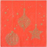 Contient : 1 x 20 Serviettes Noël  Chic Rouge