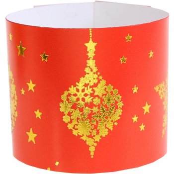 6 Ronds de Serviettes Noël Chic Rouge