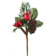 2 Mini Branches Noël Nature (10 cm)