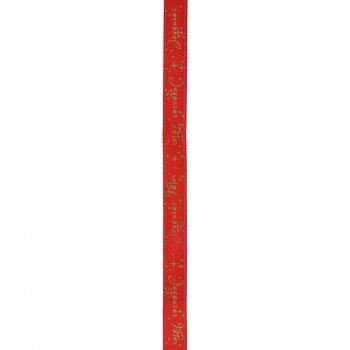 Ruban Joyeuses Fêtes Rouge (5 cm)