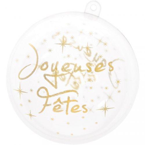 2 Boules à Garnir Joyeuses Fêtes (8 cm) - Plastique