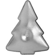 4 Bougies Sapin Argent (5 cm)