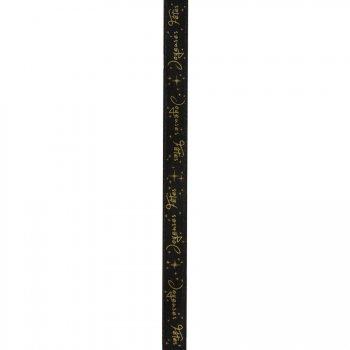 Ruban Joyeuses Fêtes Noir (5 m)