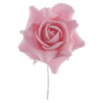 4 Roses sur Tige Rose (10 cm)