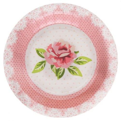 10 Assiettes Liberty Rose