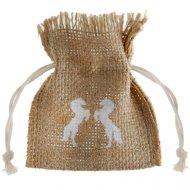 4 Mini Sachet Cadeaux Equitation (9 cm) - Corde