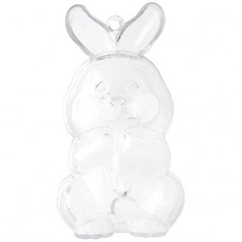Lapin de Pâques à remplir et suspendre (9 cm) - Plastique