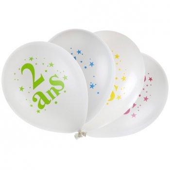 8 Ballons 2 ans Multicolore