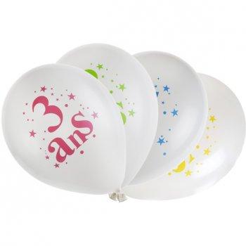 8 Ballons 3 ans Multicolore