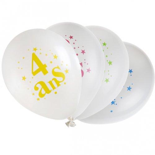 8 Ballons 4 ans Multicolore