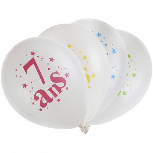 8 Ballons 7 ans Multicolore