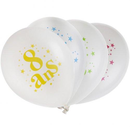 8 Ballons 8 ans Multicolore