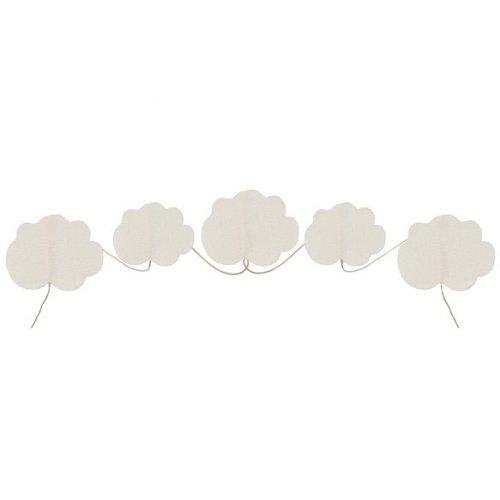 Guirlande Mini Nuages (5,5 cm) - Tissu