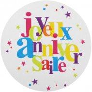 50 Stickers Joyeux Anniversaire Multicolore