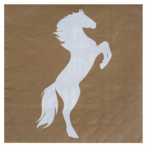 20 Serviettes Equitation