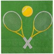 20 Serviettes Tennis