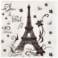 20 Serviettes Sous le Ciel de Paris - Blanc