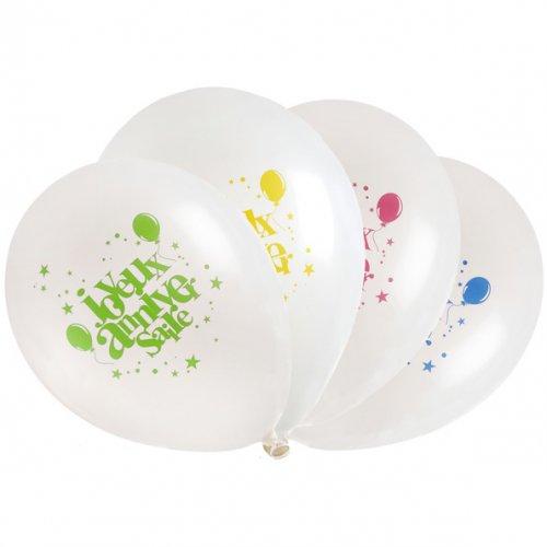 8 Ballons Joyeux Anniversaire Multicolore