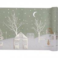 Chemin de Table Village de Noël (3 m) - Coton