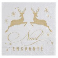 20 Serviettes Noël Enchanté