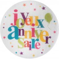 6 Sets de Table Joyeux Anniversaire Multicolore (34 cm)