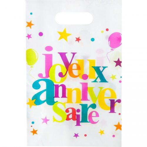 10 Pochettes Cadeaux Joyeux Anniversaire Multicolores