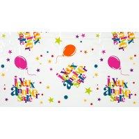 Contient : 1 x Nappe Joyeux Anniversaire Multicolore