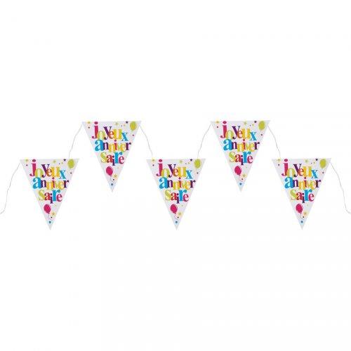 Guirlande Fanions Joyeux Anniversaire Multicolore (1,80 m)