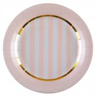 10 Assiettes Mademoiselle Baby Rose