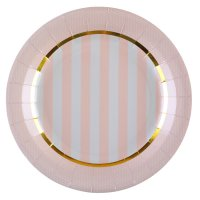 Contient : 1 x 10 Assiettes Mademoiselle Baby Rose