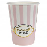 10 Gobelets Mademoiselle Baby Rose