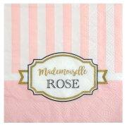 20 Petites Serviettes Mademoiselle Baby Rose