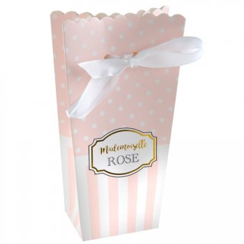 6 Boîtes Cadeaux Mademoiselle Baby Rose