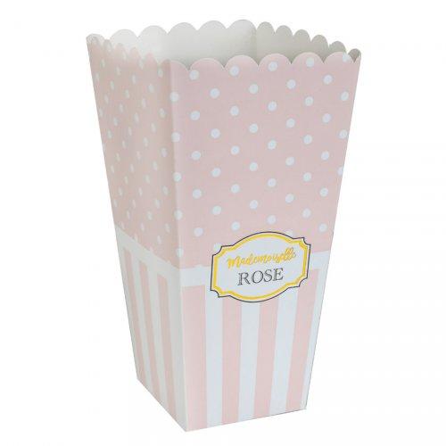 8 Pots à Popcorn Mademoiselle Baby Rose
