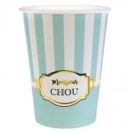 10 Gobelets Monsieur Chou Turquoise