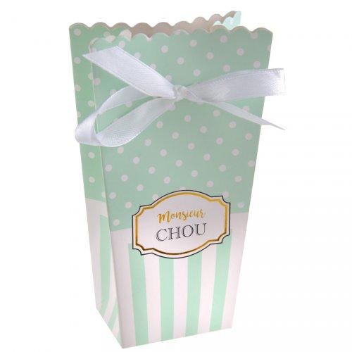 6 Boîtes Cadeaux Monsieur Chou Turquoise
