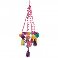 Suspension Chandelier Pompons Multicolores Latina