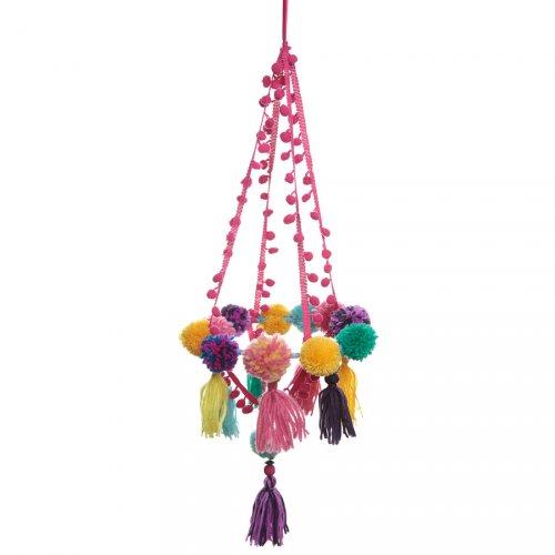 Suspension Chandelier Pompons Multicolores Latina