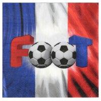 Contient : 1 x 20 Serviettes Foot France