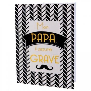 Carnet Mon Papa il assure grave (16 cm)