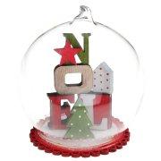 Bulle de Noël (9 cm) - Bois/Verre