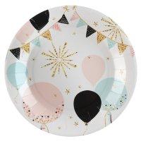 Contient : 1 x 10 Assiettes Paillettes et Ballons