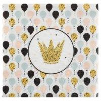 Contient : 1 x 20 Serviettes Paillettes et Ballons
