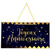 Pancarte Joyeux Anniversaire Bleu Nuit (47 cm)